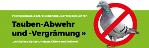 Taubenabwehr in Stuttgart, Backnang, Ludwigsburg und Heilbronn